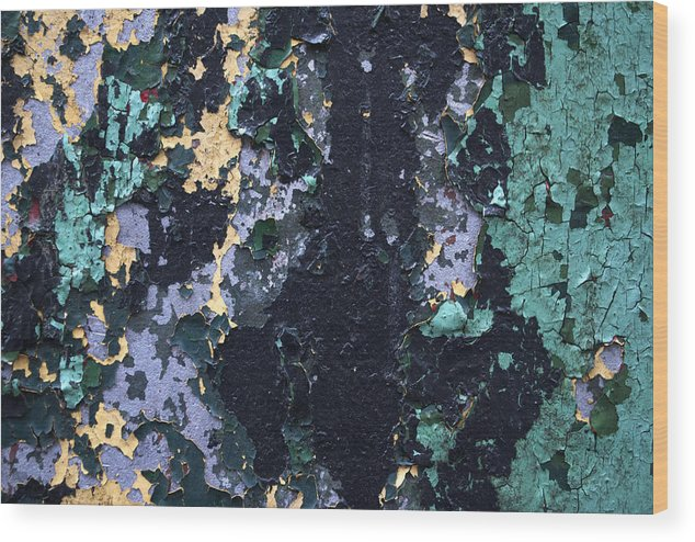 Wood Print featuring the photograph Chipped Paint by Gretchen Lally