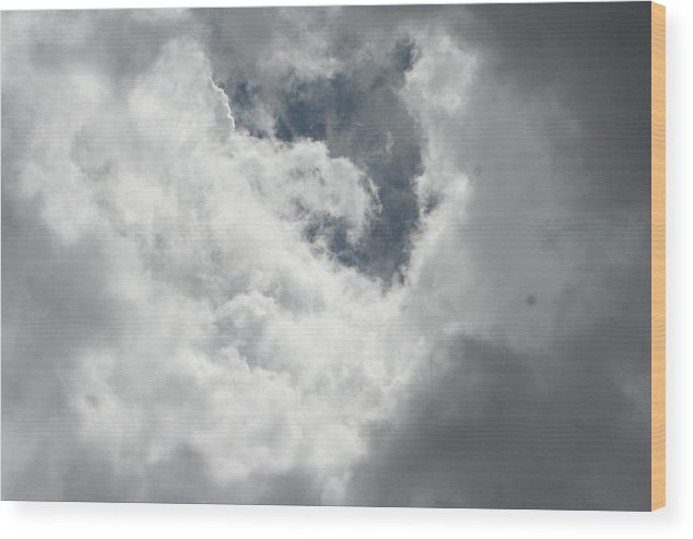 Clouds Wood Print featuring the photograph Overcast In Arizona by Paul Shoaf