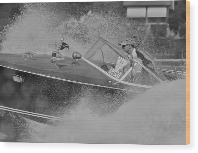 Riva Wood Print featuring the photograph Riva Tritone Lake Iseo by Steven Lapkin