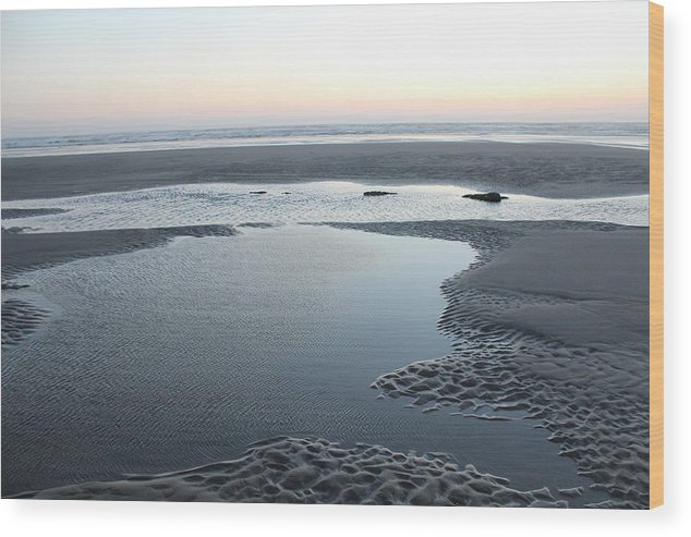 Tidepool Wood Print featuring the photograph Tide Pools At Sunset by Paul Shoaf