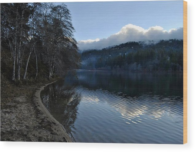 Winter Wood Print featuring the photograph Winter Lake by Randal Bruck
