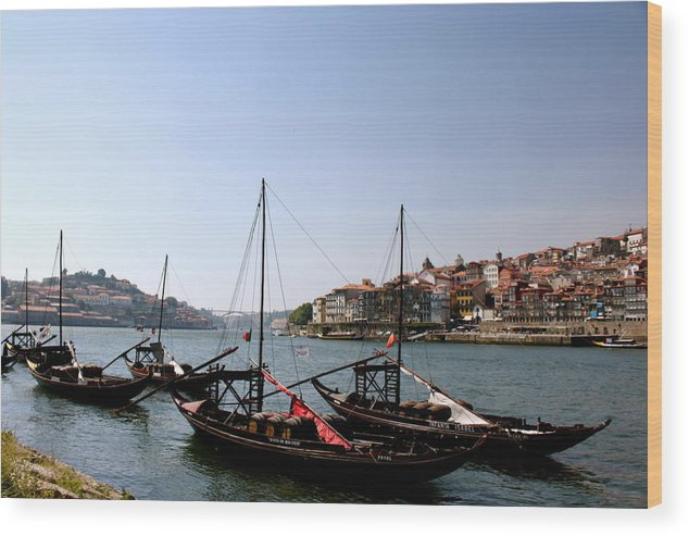 Landscape Wood Print featuring the photograph Cargo Port by Marlene Gomes