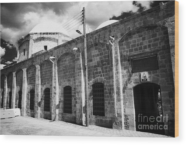 Evkaf Wood Print featuring the photograph Evkaf Dairesi Bekir Pasa Su Idaresi Larnaka Iyhf Building In The Old Town Of Larnaca Republic Cyprus by Joe Fox