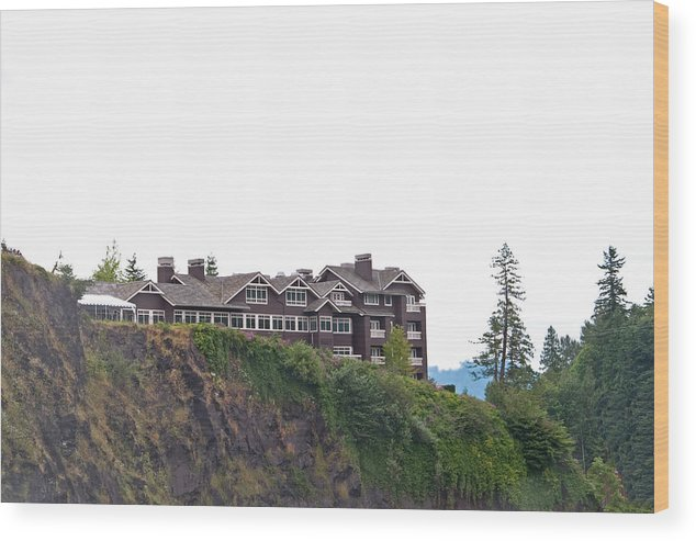 Landscapes Wood Print featuring the photograph Salish Lodge And Spa by Gerald Mitchell