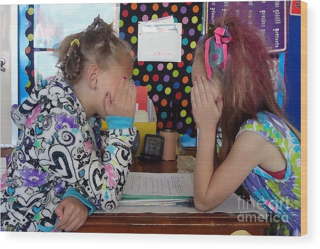 Girls Wood Print featuring the photograph Sharing Secrets by RL Rucker