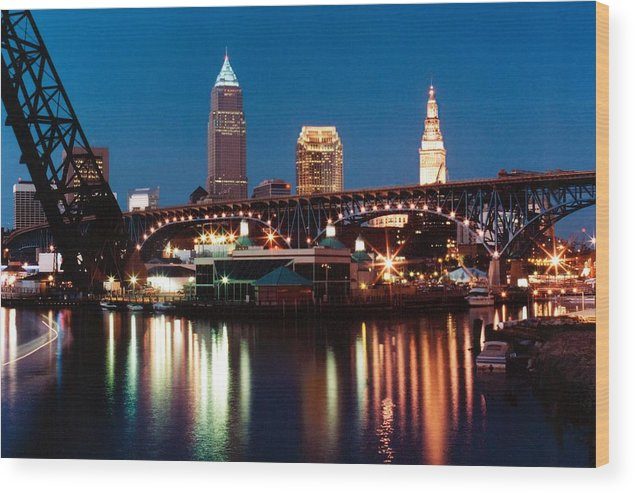 Cleveland Wood Print featuring the photograph 070506-78 by Mike Davis