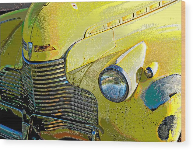Old Car Wood Print featuring the photograph '40 Chevy by John Magor