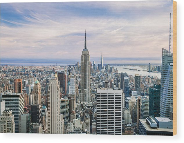 Empire State Building Wood Print featuring the photograph Amazing Manhattan by Az Jackson