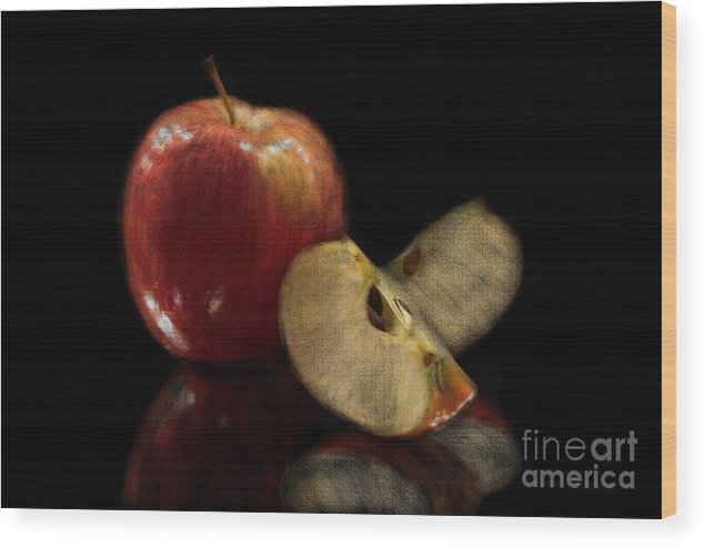 Apple Wood Print featuring the photograph Apple Still Life by Jeannie Burleson