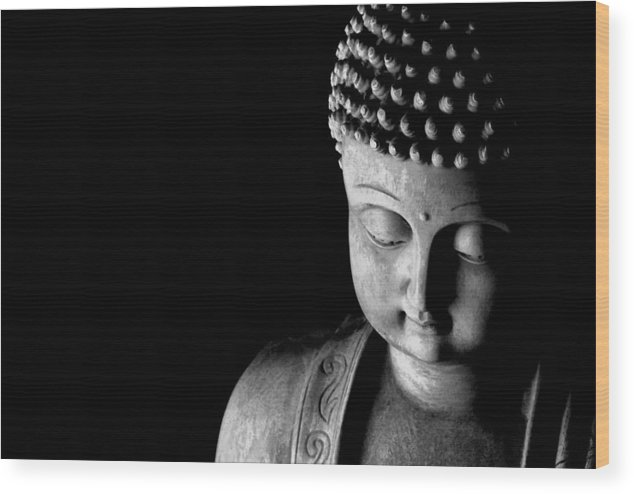 Buddha Statue Wood Print featuring the photograph Buddha by Anthony Citro