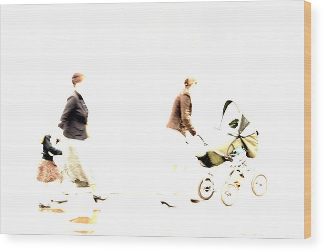 Photo Wood Print featuring the photograph Cheerful Family by Vadim Grabbe