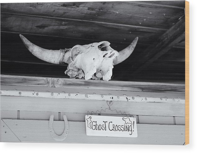 Skull Wood Print featuring the photograph Dick's Saloon Belmont Nv by Troy Montemayor