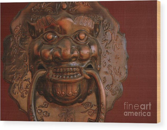 Wood Print featuring the photograph Doorknocker 01 by April Holgate