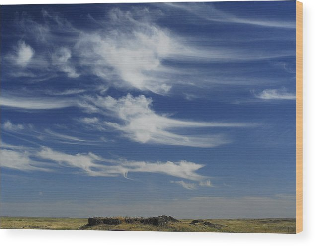 Sky Wood Print featuring the photograph Ethereal Clouds by Owen Ashurst