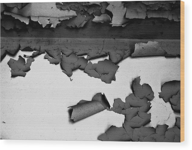 Black-and-white Wood Print featuring the photograph Everything That Remains by Vadim Grabbe