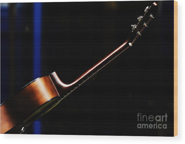 Guitar Wood Print featuring the photograph Guitar by Sheila Smart Fine Art Photography