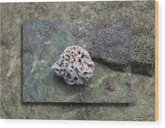 Stone Wood Print featuring the photograph Holey Stone 2 by WB Johnston