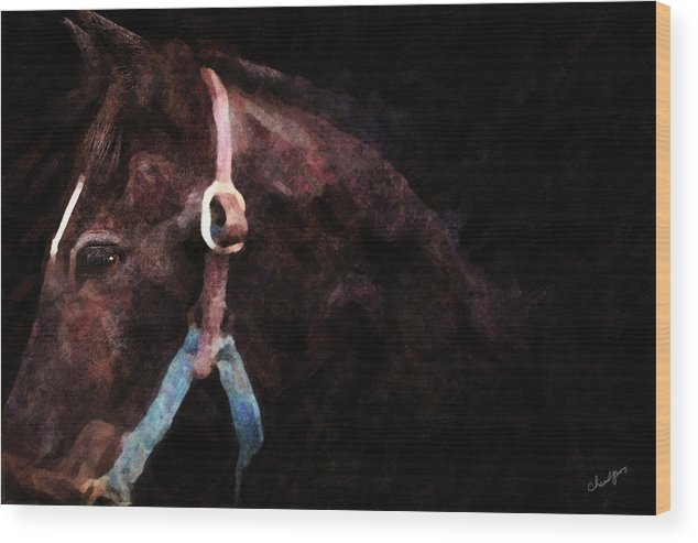 Horse Wood Print featuring the digital art Horse Study #3 by Everlasting Equine Horse Art