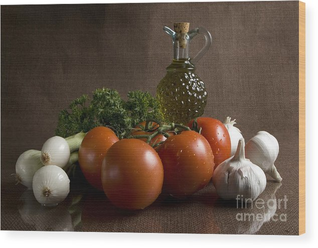 Fresh Wood Print featuring the photograph Ingredients by Jeannie Burleson