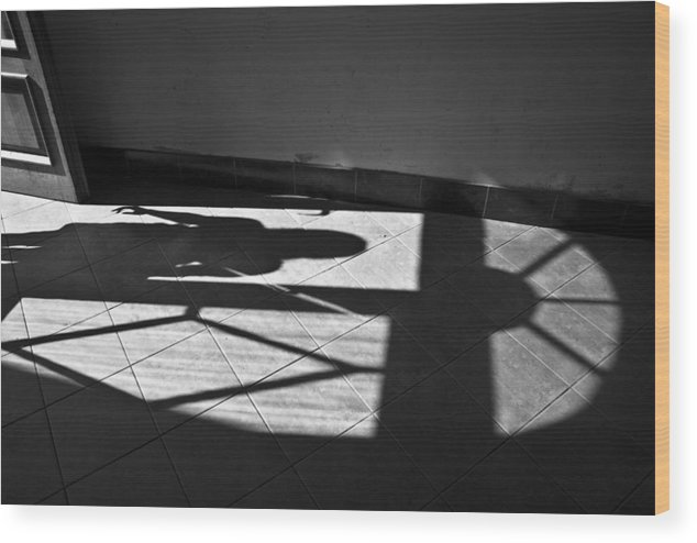 Shadow Wood Print featuring the photograph It Leaves... Do Not Hold It... by Vadim Grabbe