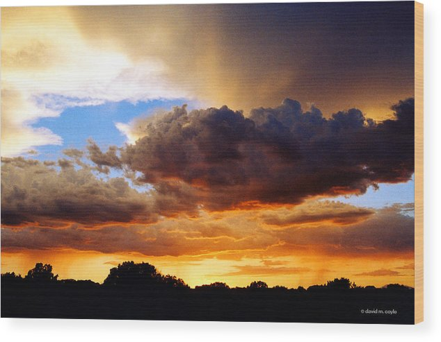 Sunset Wood Print featuring the photograph Monsoon Sunset by David Coyle
