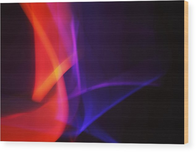 Abstract Wood Print featuring the photograph Painting With Light 4 by Chris Rodenberg