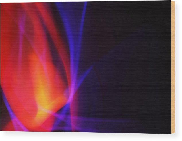 Abstract Wood Print featuring the photograph Painting With Light 5 by Chris Rodenberg