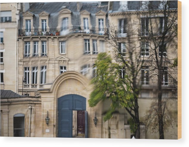 Museum Wood Print featuring the photograph Paris Through Glass 1 by Aaron Jean