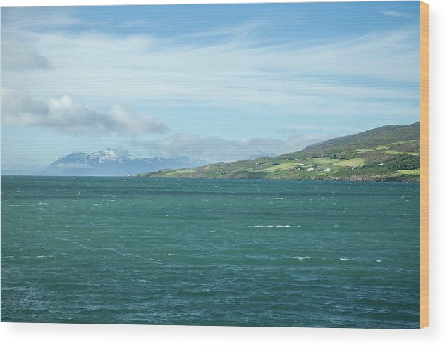 Seascape Wood Print featuring the photograph Seascape In Iceland On Summer by Henri-Louis ROLAND