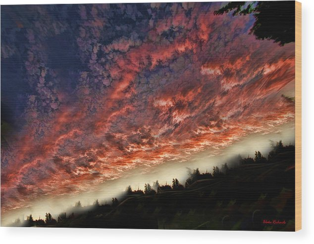 Wood Print featuring the photograph Sideways Sky by Blake Richards