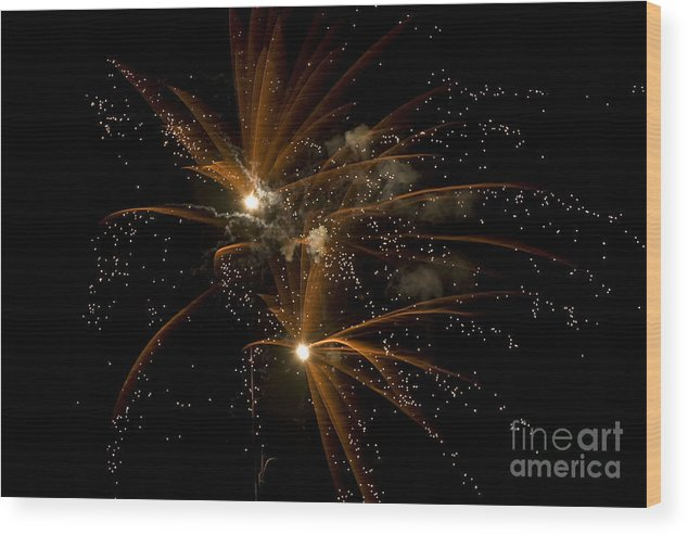 Fireworks Wood Print featuring the photograph Sparkles by Jeannie Burleson