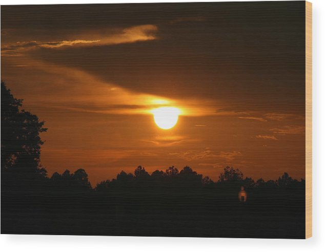 Landscape Wood Print featuring the photograph Sunset In The South by Greg Sharpe