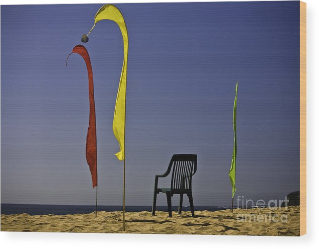 Beach Wood Print featuring the photograph The Empty Chair by Sheila Smart Fine Art Photography
