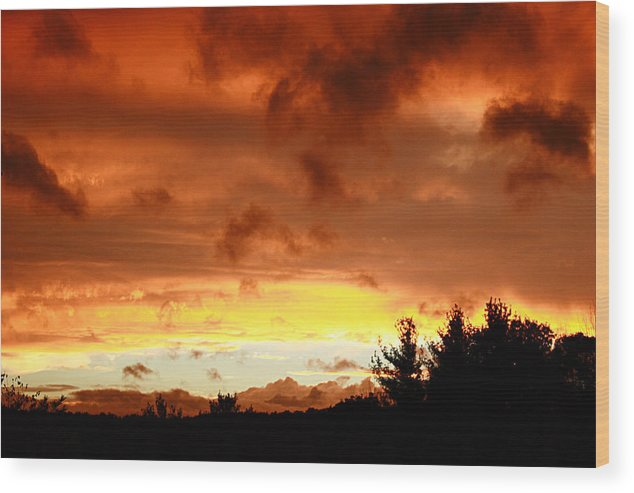Sunset Wood Print featuring the photograph The Red Planet by Carol J Hicks