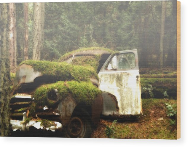 Vintage Cars Wood Print featuring the photograph Vintage 1947 Chevrolet by Diane Smith