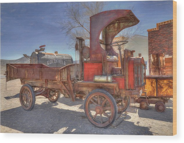 Packard Wood Print featuring the photograph Vintage Packard Truck by Donna Kennedy