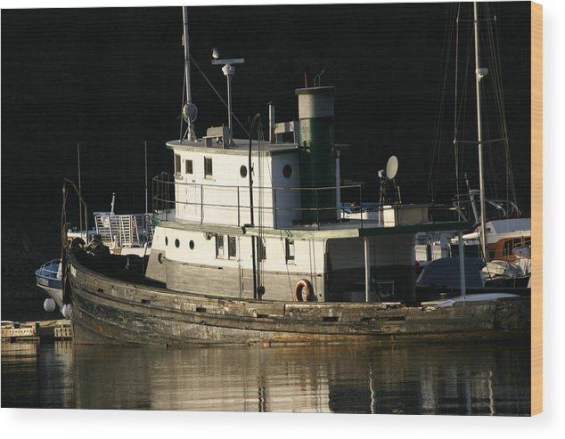 Boat Wood Print featuring the photograph Workboat by Doug Johnson