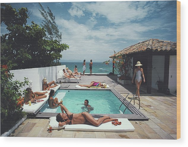 People Wood Print featuring the photograph Buzios by Slim Aarons