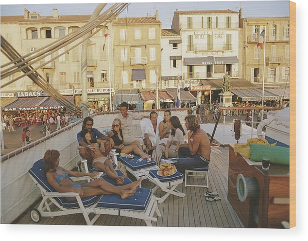 People Wood Print featuring the photograph Saint-tropez by Slim Aarons
