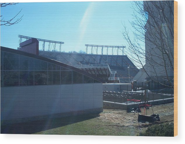 Hokie Wood Print featuring the photograph Lane Stadium by Eddie Armstrong