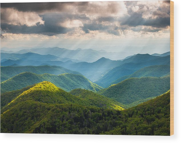 Great Smoky Mountains Wood Print featuring the photograph Great Smoky Mountains National Park Nc Western North Carolina by Dave Allen