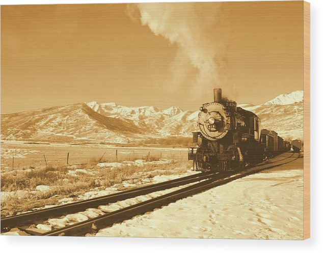 Train Wood Print featuring the photograph The Heber Creeper by Caroline Clark