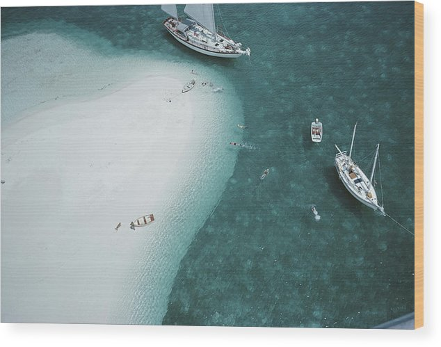 People Wood Print featuring the photograph Stocking Island, Bahamas by Slim Aarons