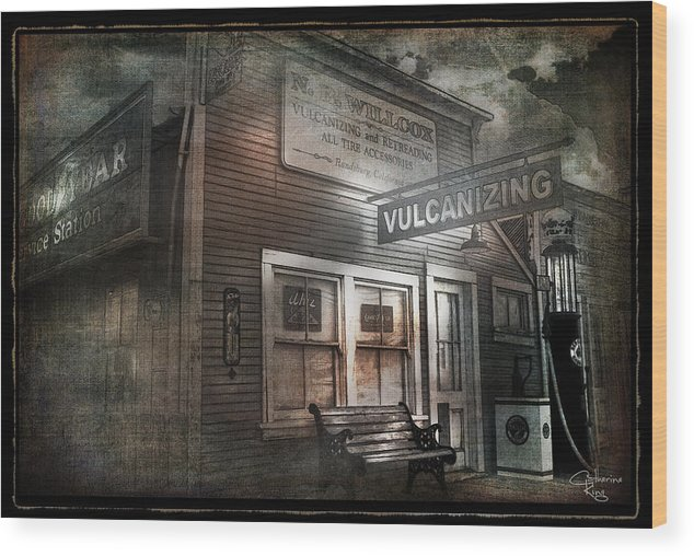 Randsburg Wood Print featuring the digital art Vulcanizing by Catherine King