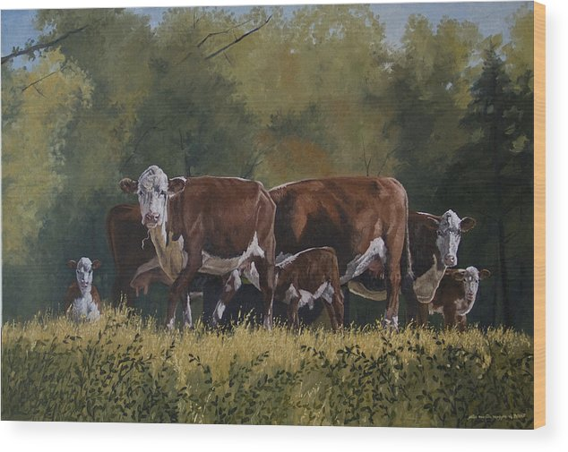 Landscape Wood Print featuring the painting Generations by Peter Muzyka