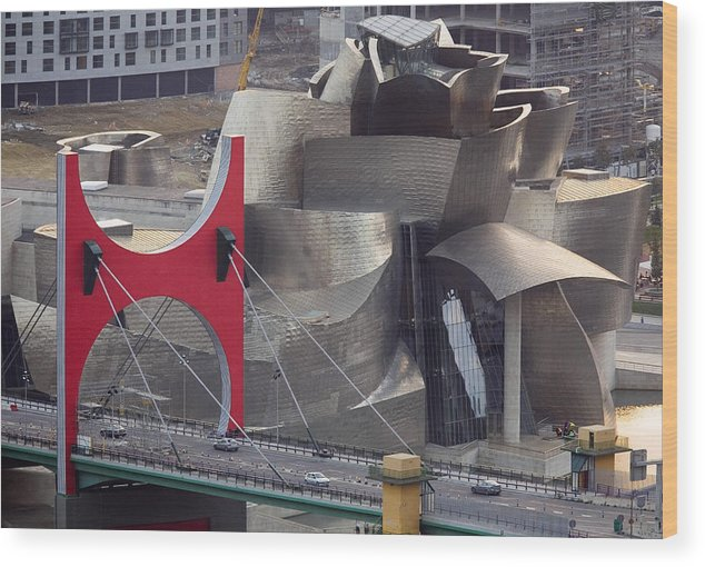 Spain Wood Print featuring the photograph Guggenheim Bilbao Museum IIi by Rafa Rivas