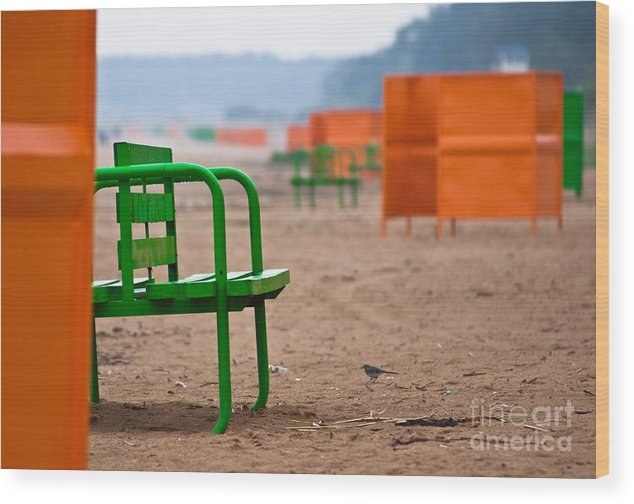 Beach Wood Print featuring the photograph Not A Season by Vadim Grabbe