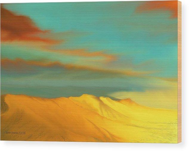 Desert Wood Print featuring the digital art Ridge by Kerry Beverly