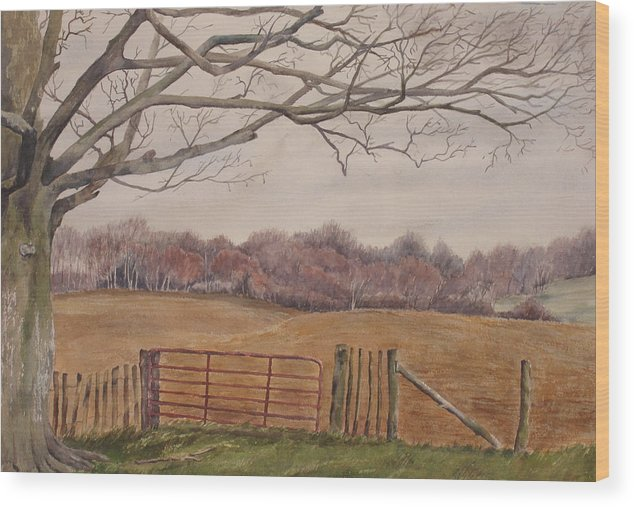 England Wood Print featuring the painting Shelter by Debbie Homewood