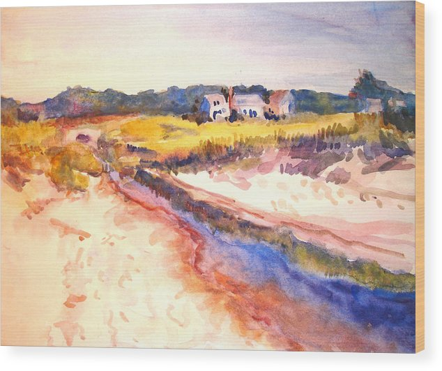 Landscape Wood Print featuring the painting Cole Brook by Joyce Kanyuk